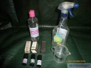 ingredients to mix an anti-flea spray
